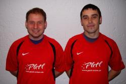 Andy Balck (links) und Liviu Pantea (rechts) präsentieren sich stolz im VfL-Trikot!
