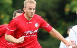 """Markus Gibis erzielte das """"Goldene"""" Tor und beendete somit seine Torflaute nach sieben Spielen ohne Treffer"""