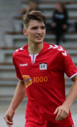 Philipp Gohn (18) musste wegen einer Verletzung am Arm zur Pause raus!