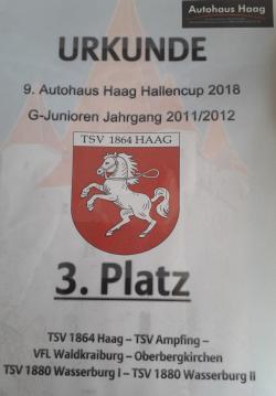 Autohaus Haag - Cup G-Junioren belegen den 3. Platz
