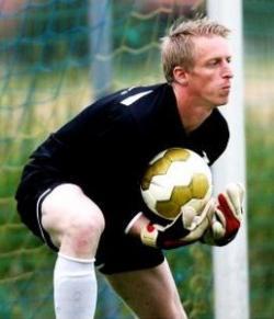 """Goali """"Barny"""" Auer in Aktion - Er rettete den Sieg im Vorjahr"""