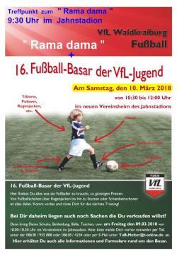 Rama-Dama und Fußball-Basar