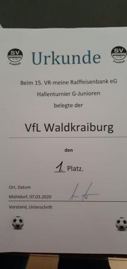 VfL Bambini Sieger beim Raiffeisen -Cup des SV Weidenbach