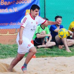 Sven Strutz war mit drei Turniertreffern bester Torschütze der Beach Boyz