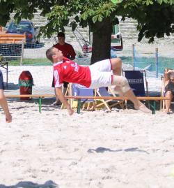 Dominik Kraus war wie gewohnt akrobatisch unterwegs
